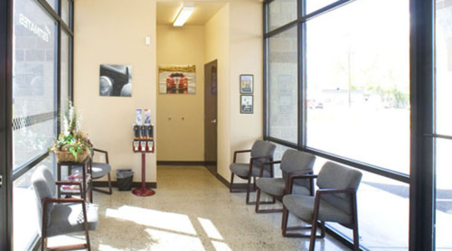 Hoffman Auto Body Lobby, Boise, ID